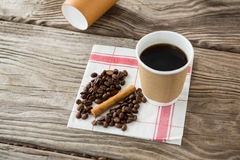 Close-up of coffee with coffee beans Stock Photos