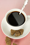 Close-up of a coffee cup Royalty Free Stock Images