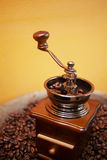 Close up coffee grinder machine Royalty Free Stock Images