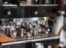 Close-Up of coffee machine Royalty Free Stock Photos