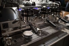 Close-up of coffee machine Stock Image