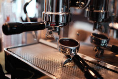 Close-up of  coffee machine. Close-up of retro coffee machine in thailand Stock Photography