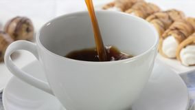 Close Up Coffee Pour stock video footage