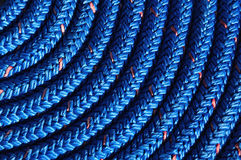 Close-up of Coiled Blue Rope Royalty Free Stock Images