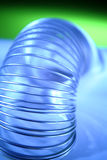 Close up of a coiled spring Stock Photo