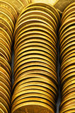Close up of the coin stacks Royalty Free Stock Photos