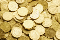 Close Up of Coins Royalty Free Stock Photography