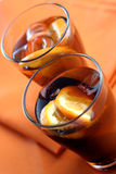Close up of cola drink Royalty Free Stock Images