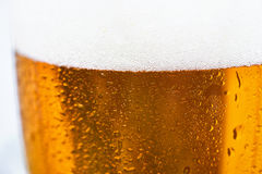 Close up of cold beer in a glass Stock Photo