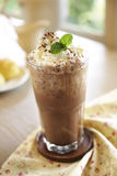 Close up cold chocolate and coffee Royalty Free Stock Images