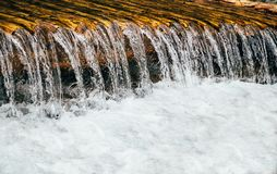 Close up of cold fresh water from mountain river, rapids, whitewater.  royalty free stock photography
