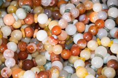 Close up Collage of a variety of beads for Bracelet Royalty Free Stock Photo
