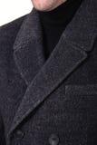 Close-up collar men`s jacket. Close up suit of businessman stock photo