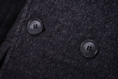 Close-up collar men`s jacket. Close up suit of businessman Royalty Free Stock Images