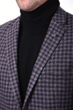 Close-up collar men`s jacket. Close up suit of businessman Royalty Free Stock Photo
