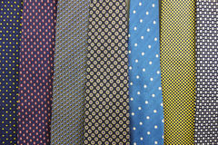 Close up Collection Of Silk Neck Ties. A Close up Collection Of Silk Neck Ties Stock Image