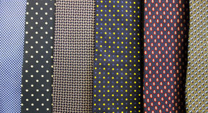 Close up Collection Of Silk Neck Ties. A Close up Collection Of Silk Neck Ties Stock Images