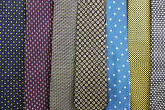 Close up Collection Of Silk Neck Ties. A Close up Collection Of Silk Neck Ties Stock Photo