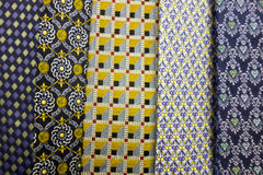Close up Collection Of Silk Neck Ties. A Close up Collection Of Silk Neck Ties Royalty Free Stock Image