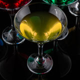 close up color cocktail Stock Photo