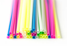 Close up color craft straws Stock Photography