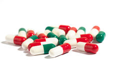 Close-up of color  medical capsules Stock Image