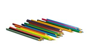 Color pencil isolate on white background stock photography