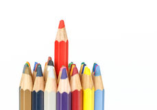 Close up color pencil Royalty Free Stock Photo