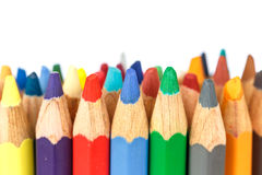 Close up color pencil Royalty Free Stock Photography
