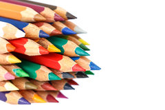 Close up color pencil Royalty Free Stock Image