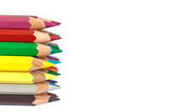 Close up color pencil Royalty Free Stock Images