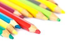 Close up color pencil Royalty Free Stock Photos