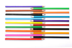 Close up of color pencils. On white background royalty free stock images