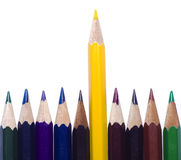 Close up of color pencils Royalty Free Stock Photo