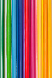 Close up of color pencils on colorful background Stock Image