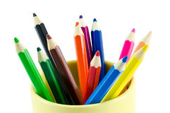 Close-up color pencils Royalty Free Stock Images