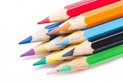 Close Up Of Color Pencils. Stock Images
