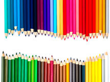 Close up of color pencils Royalty Free Stock Images