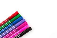 Close up of color pens Stock Photos