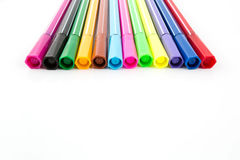 Close up of color pens Stock Images