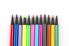 Close up of color pens Stock Photo