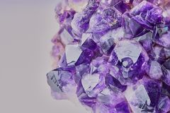 Close up color picture of amethyst royalty free stock photo