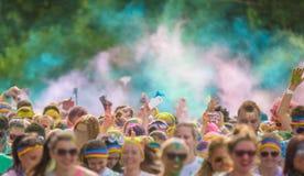 Close-up of color powder marathon Stock Image
