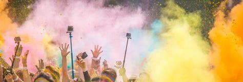 Close-up of color powder marathon Stock Photography