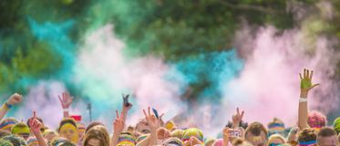Close-up of color powder marathon Royalty Free Stock Images