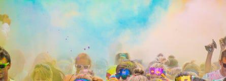 Close-up of color powder marathon Stock Photo