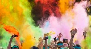 Close-up of color run marathon. Stock Photo