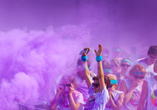 Close-up of color run marathon. Stock Image
