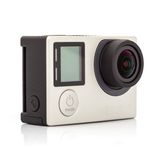 Close up color shot of a small action camera Royalty Free Stock Images