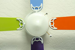 Close up of colored Ceiling Fan Stock Images